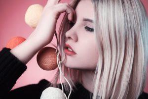 Jeune Fille, Modèle, Rose, La Mode, Portrait, Mystique