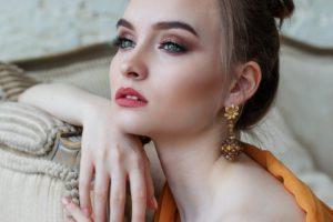 Jeune Fille, Maquillage, Belle, Yeux, Cheveux, La Mode